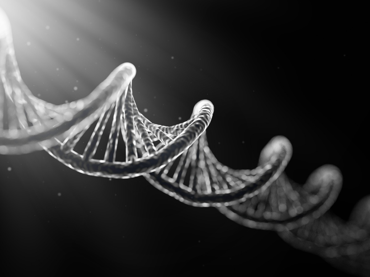 black and white illustration of DNA, biggest event every year