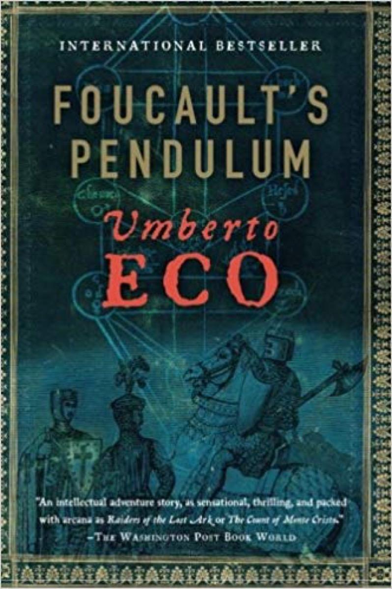 Foucault's Pendulum book cover, father quotes