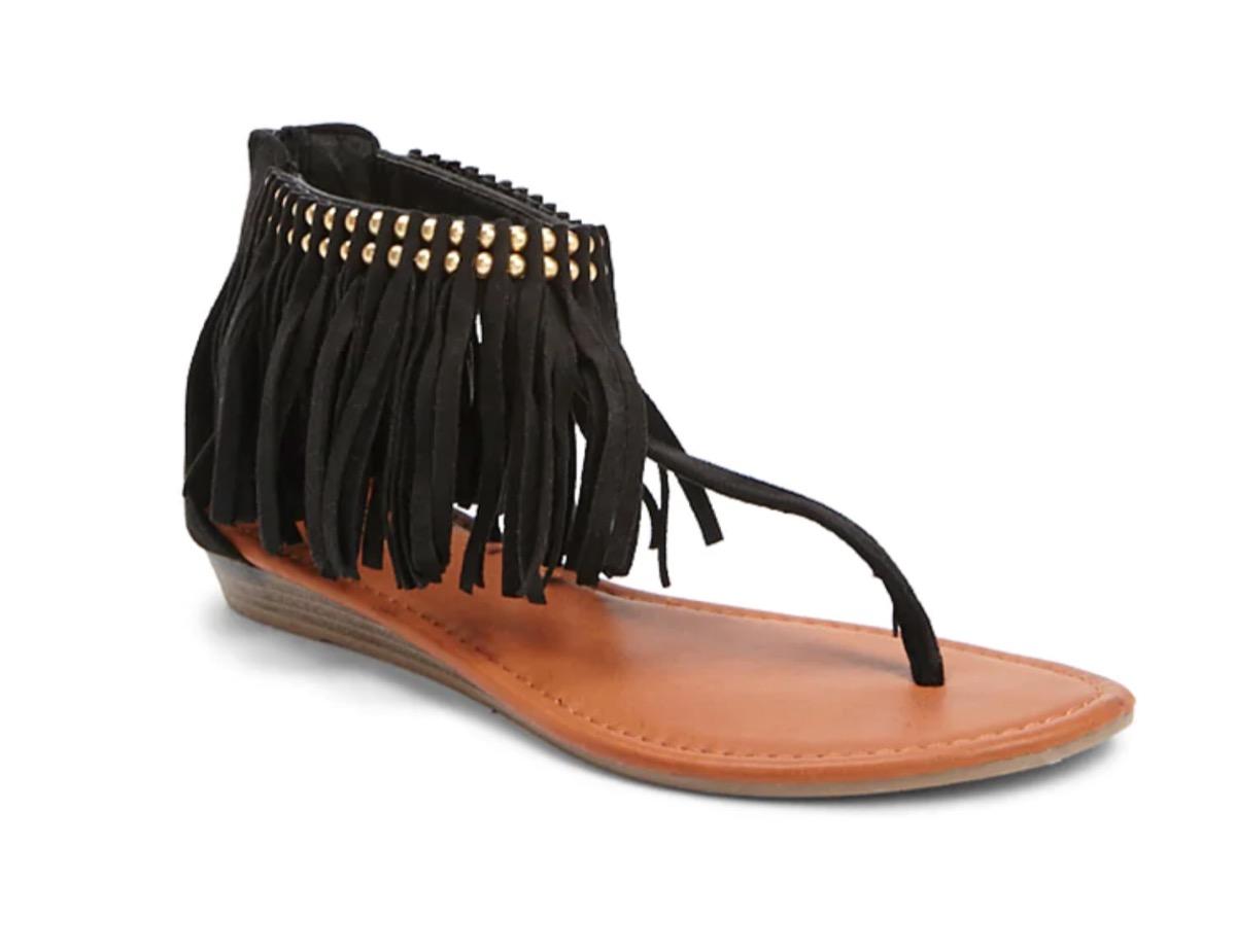Fringe black sandal from Forever 21