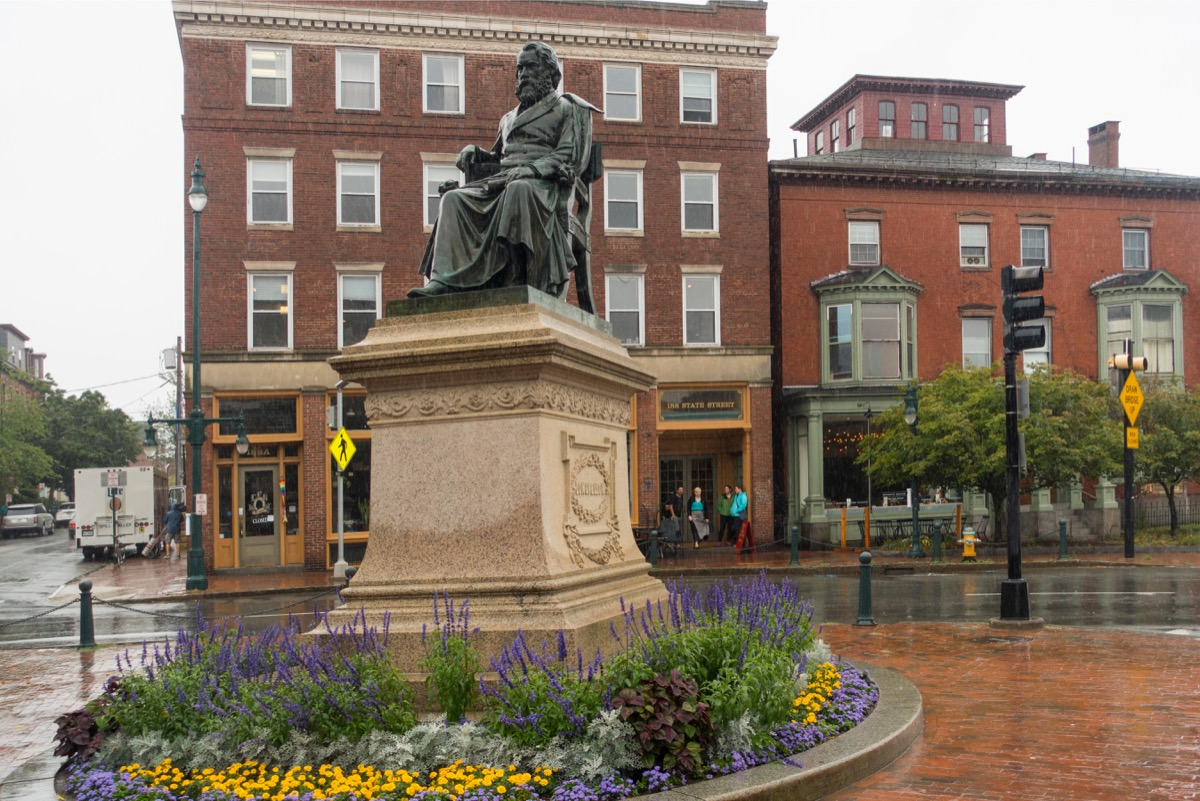 Henry Wadsworth Longfellow Monument in Portland Maine