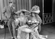 John Michael King, Julie Andrews and Cathleen Nesbitt star in My Fair Lady, most popular broadway show in 1950s