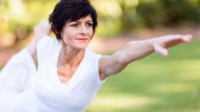 Middle age woman yoga