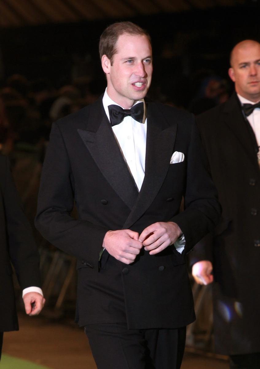 Prince William wears tux
