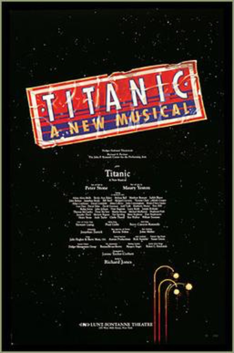 the broadway poster for the titanic musical, broadway tickets