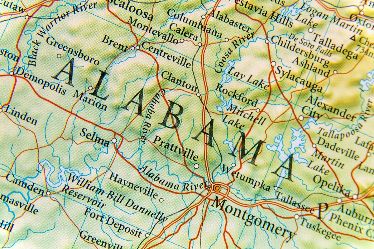 alabama geographical map