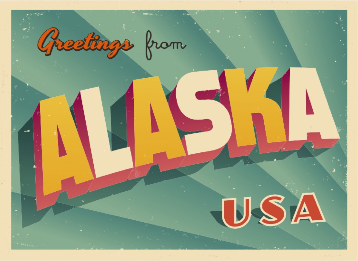 alaska postcard famous state statues