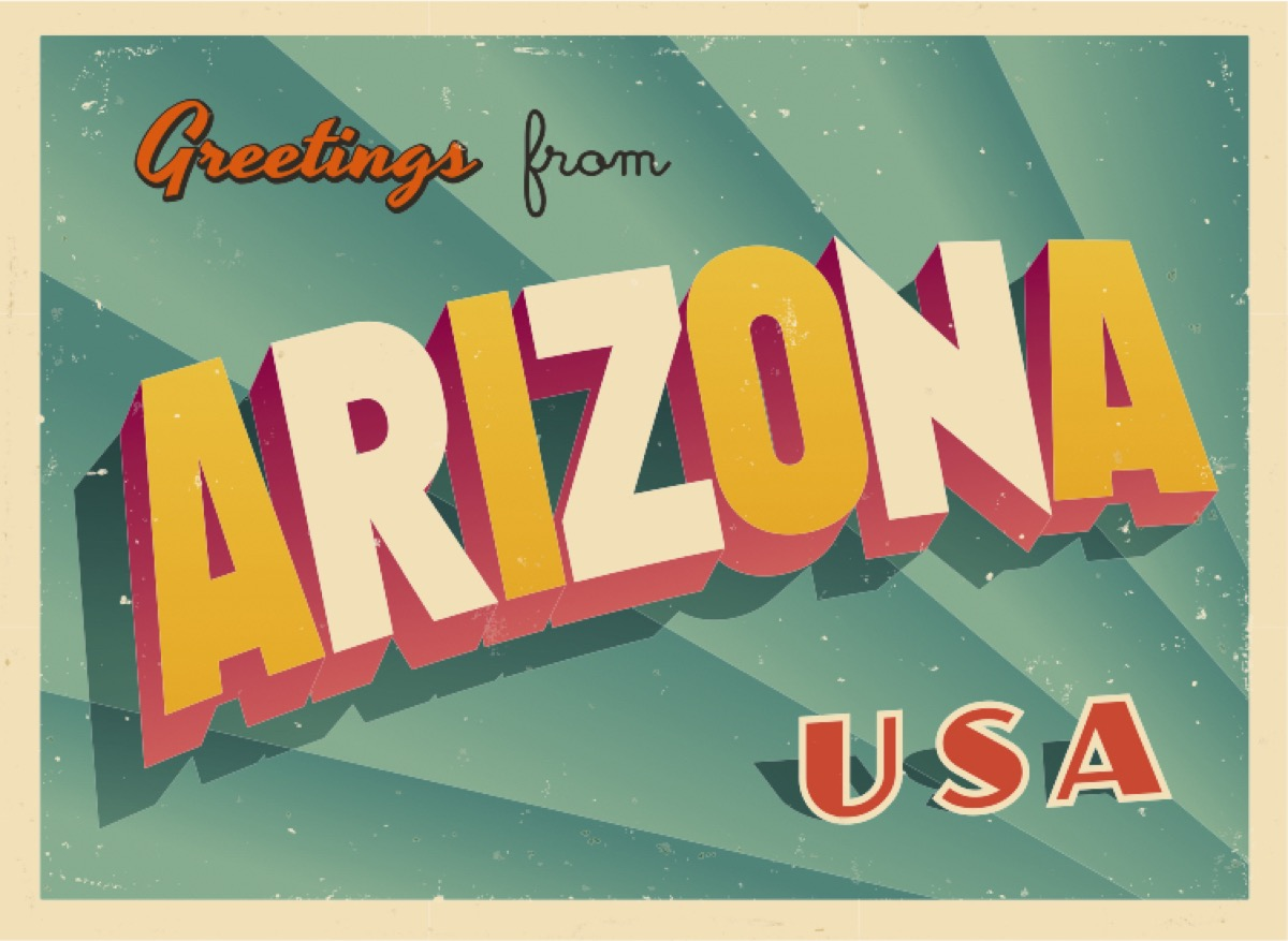 arizona postcard famous state statues