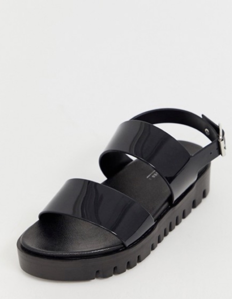 black jelly sandals, affordable sandals