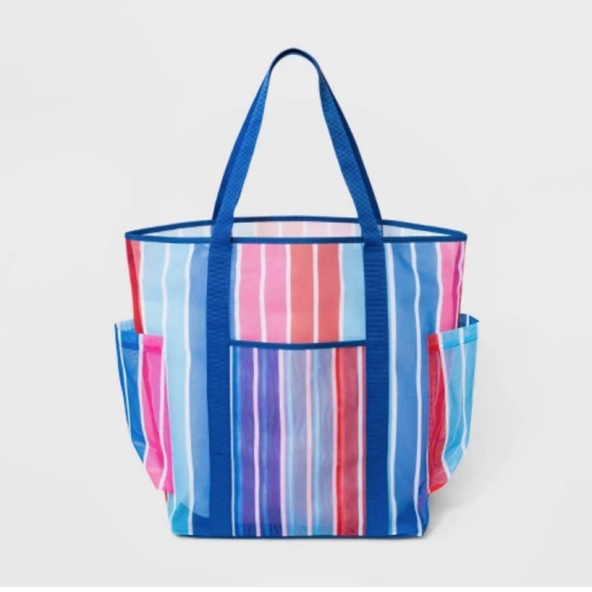 striped beach tote, target beach essentials