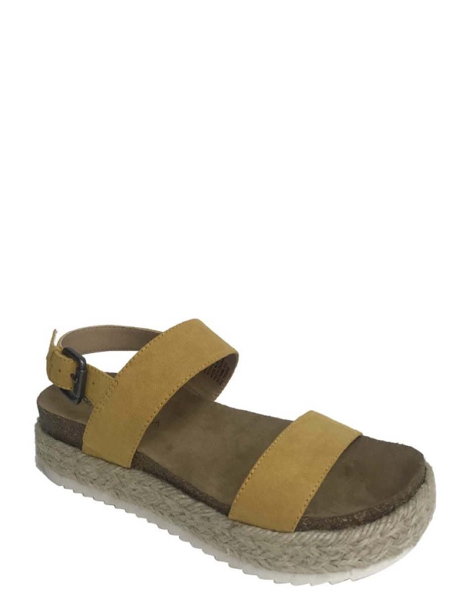 yellow strappy sandals, affordable sandals