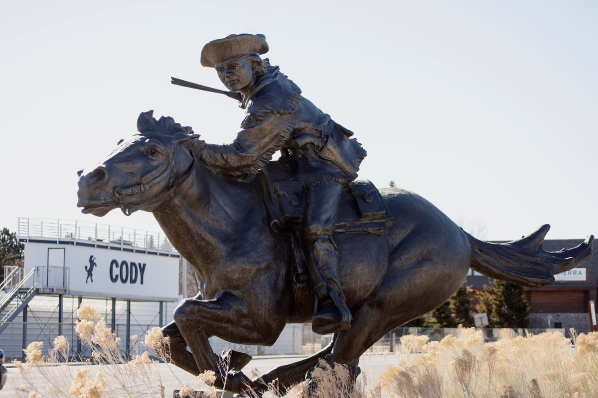 bill cody statue wyoming famous state statues