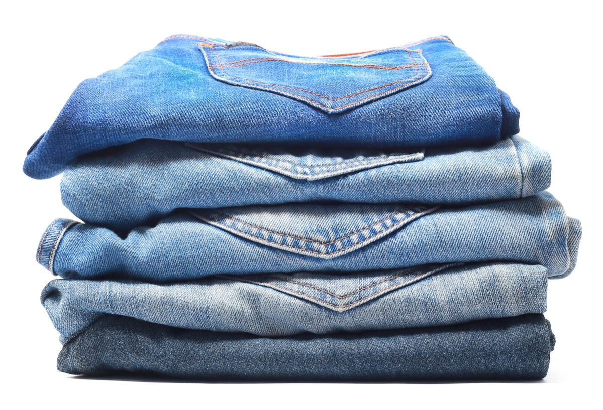 blue denim jeans isolated