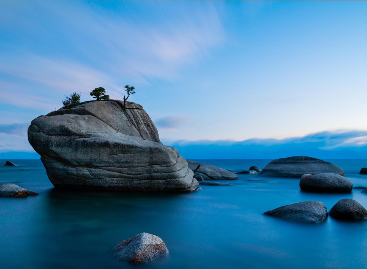 bonsai rock lake tahoe nevada state natural wonders