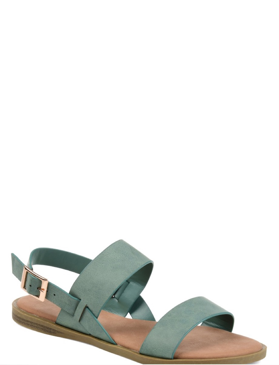 green sandals with two straps, affordable sandals