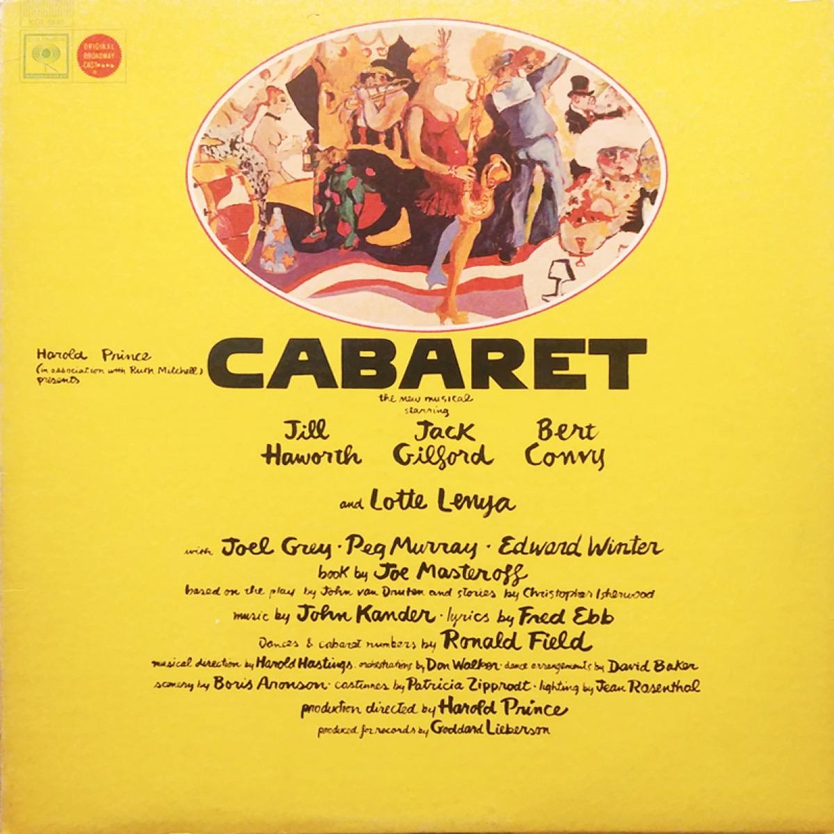 cabaret original cast recording for broadway