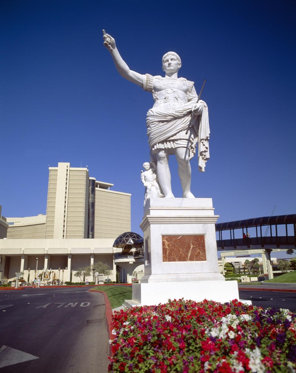 caesars palace statue las vegas nevada famous state statues