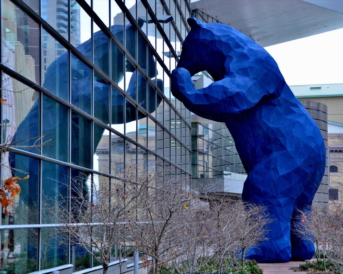 colorado big blue bear statue famous state statues