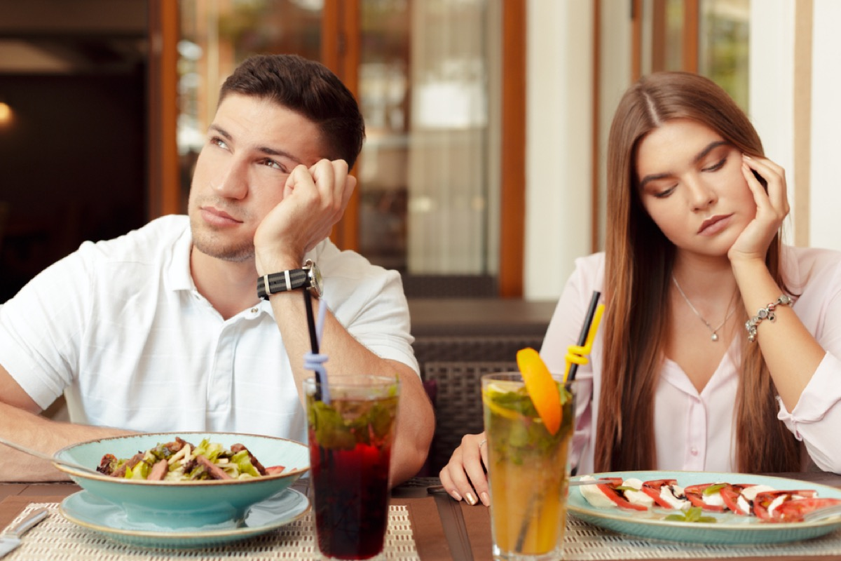 couple fighting over meal, things you should never say to your spouse