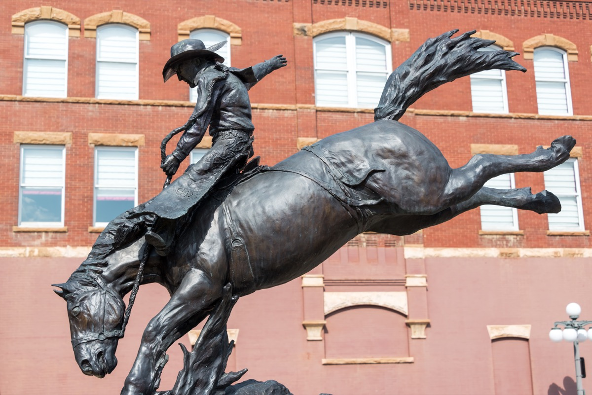 cowboy on horse statue south dakota famous state statues
