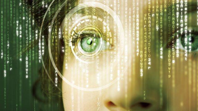 a woman in the matrix predicting the future