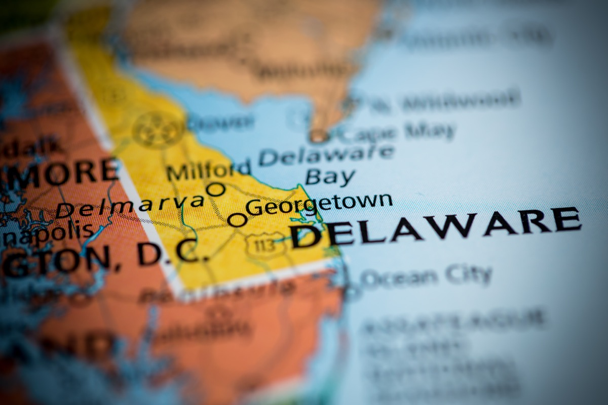 delaware geographical map state natural wonders