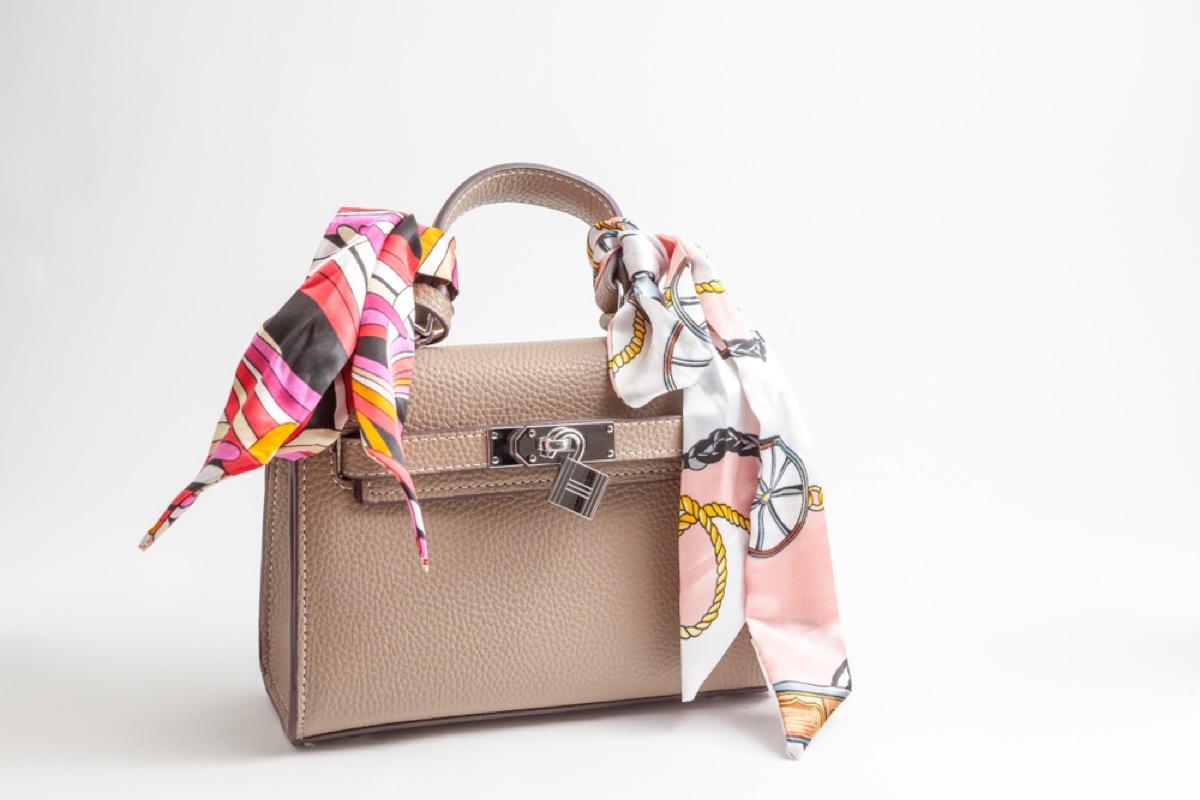 designer purse and scarves, get rid of kids stuff