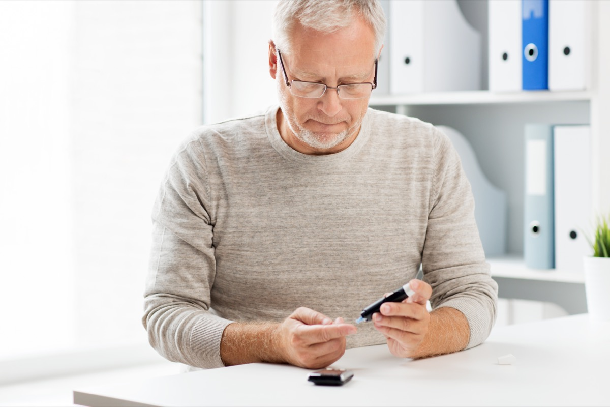 Man with Diabetes Testing His Blood Sugar Misdiagnosed Men's Health Issues