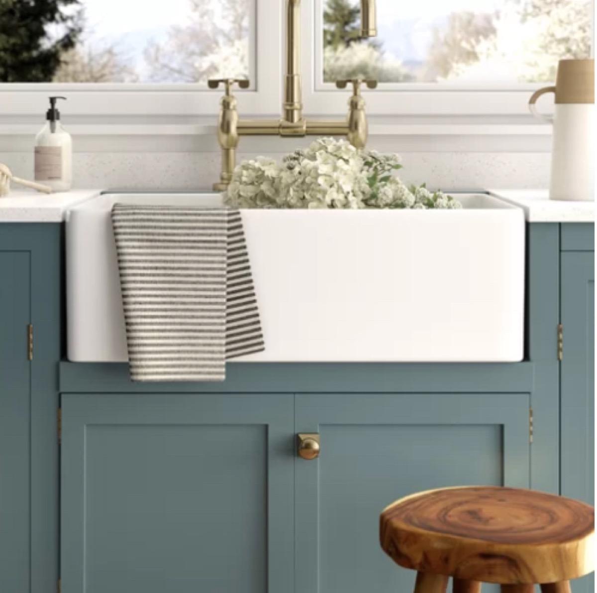 farmhouse kitchen sink wayfair vintage home features
