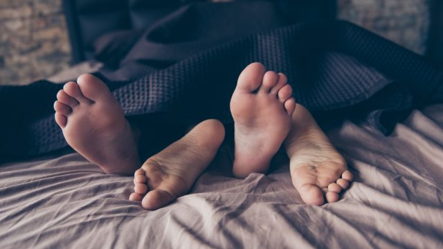 feet in bed, best sex positions