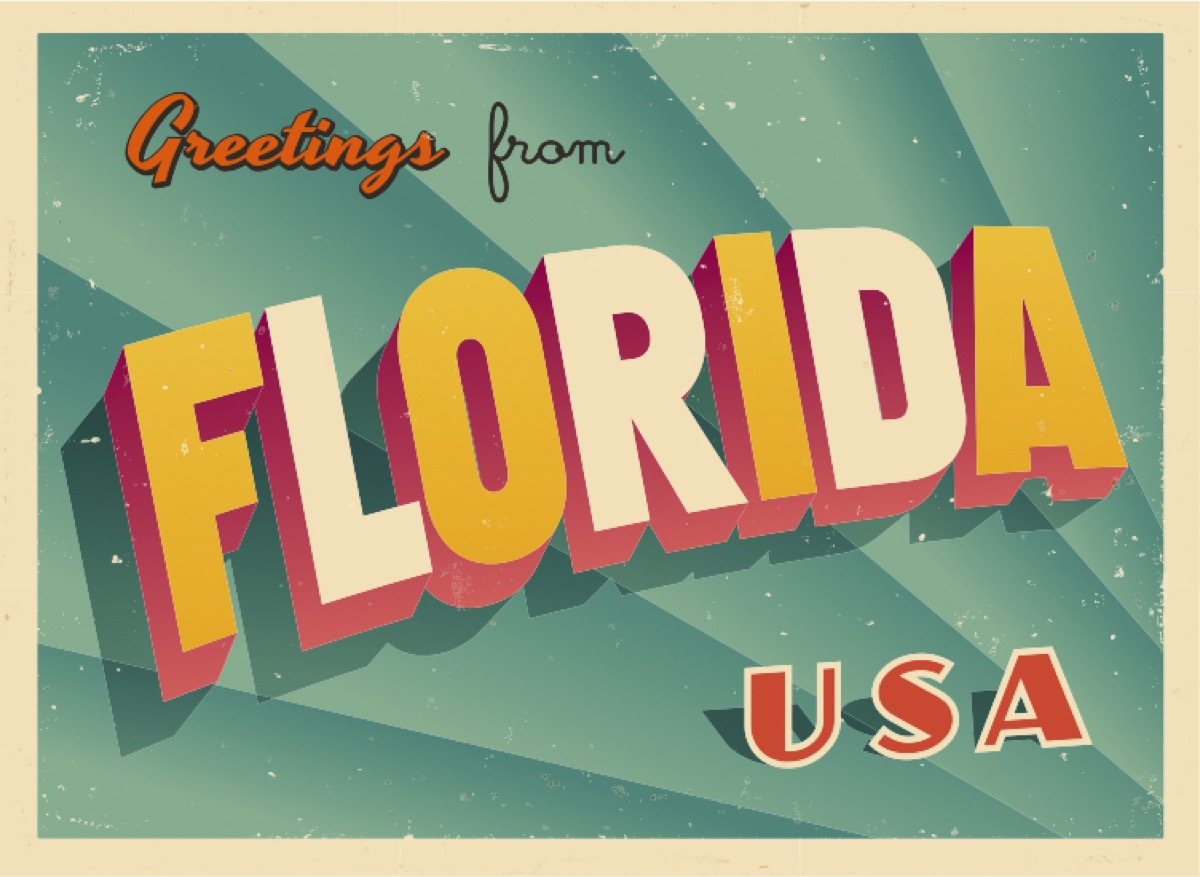 florida postcard famous state statues