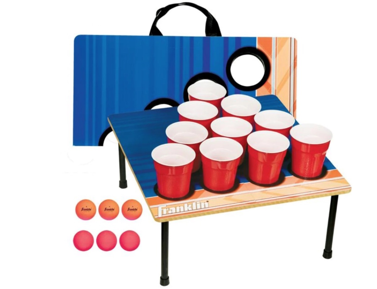 beer pong set, summer party essentials