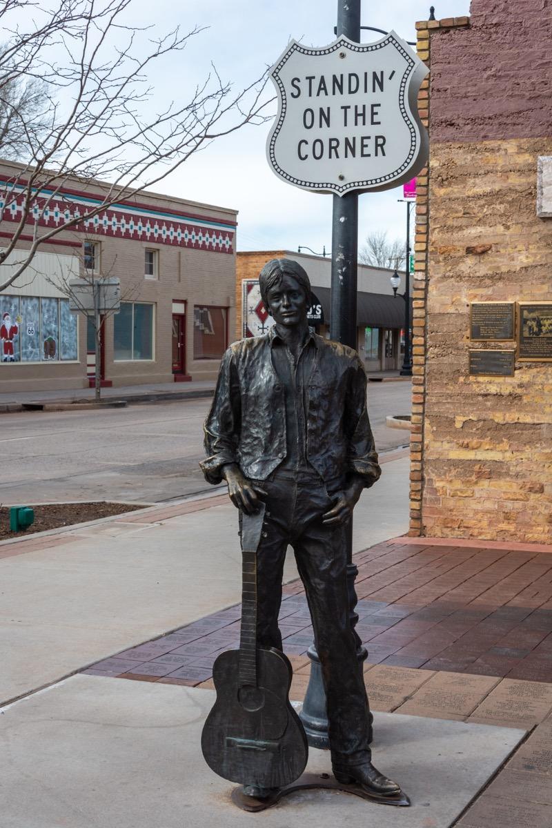 glenn frey statue in winslow arizona famous state statues