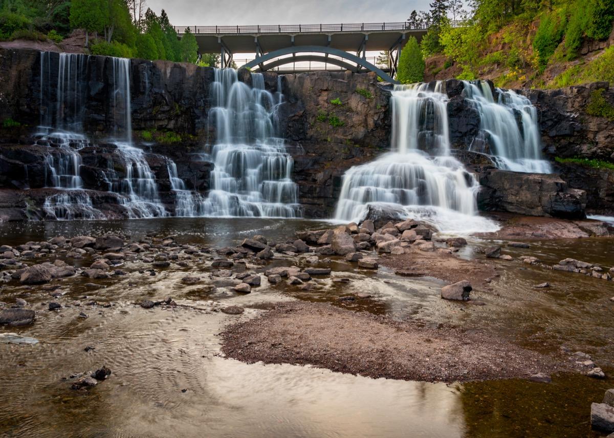 gooseberry falls minnesota state natural wonders