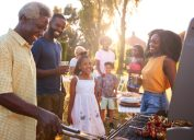 black family grilling outside, father's day gifts, empty nest
