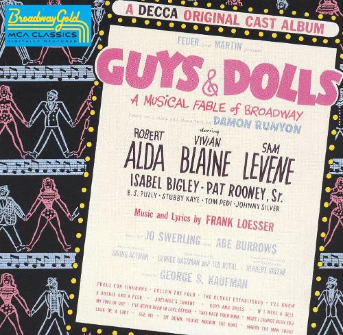 guys and dolls original cast recording