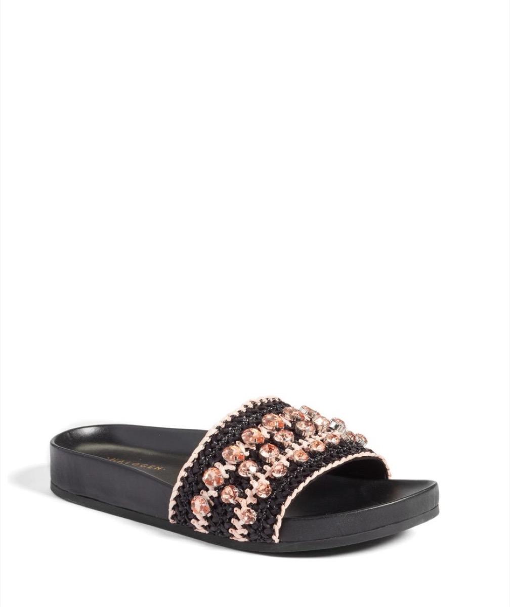 beaded slide sandals, affordable sandals
