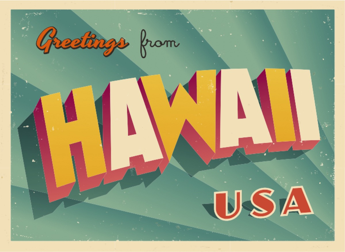 hawaii postcard famous state statues