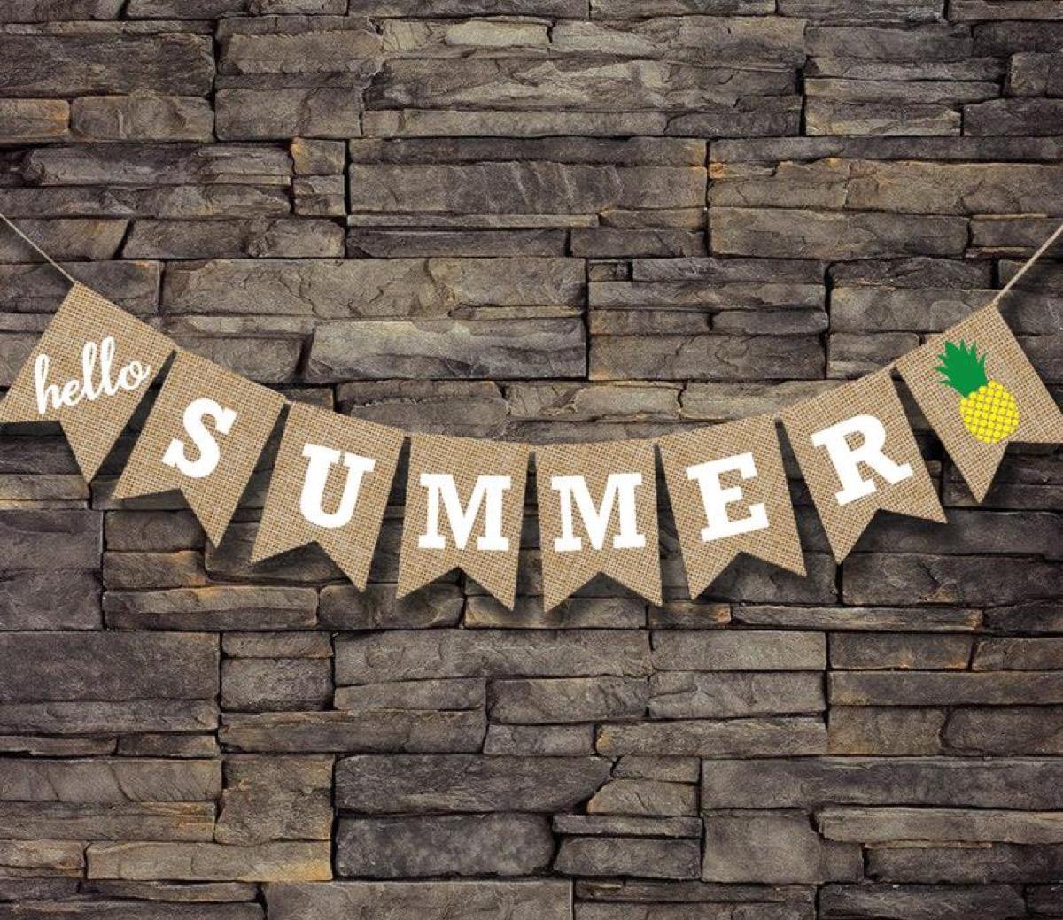 burlap bunting, summer party essentials