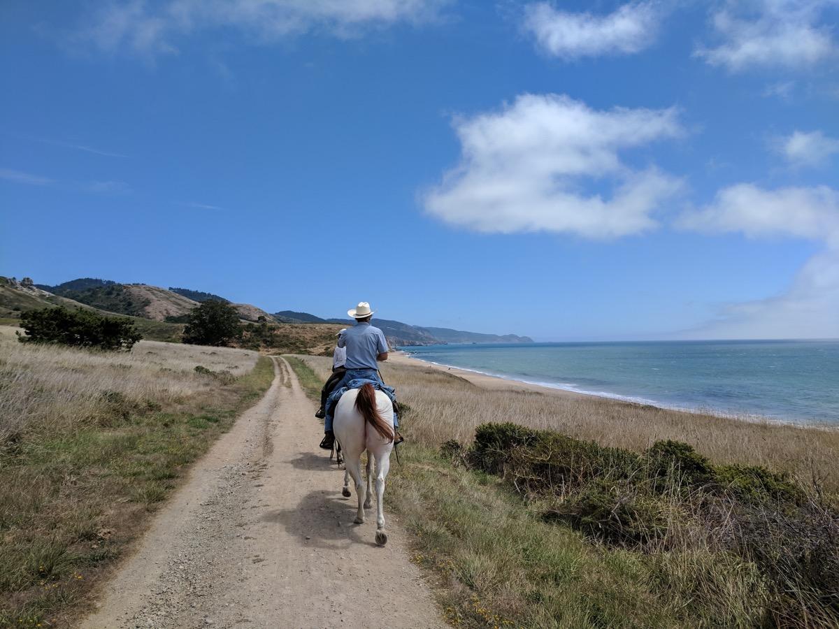 horseback riding at point reyes national seashore california