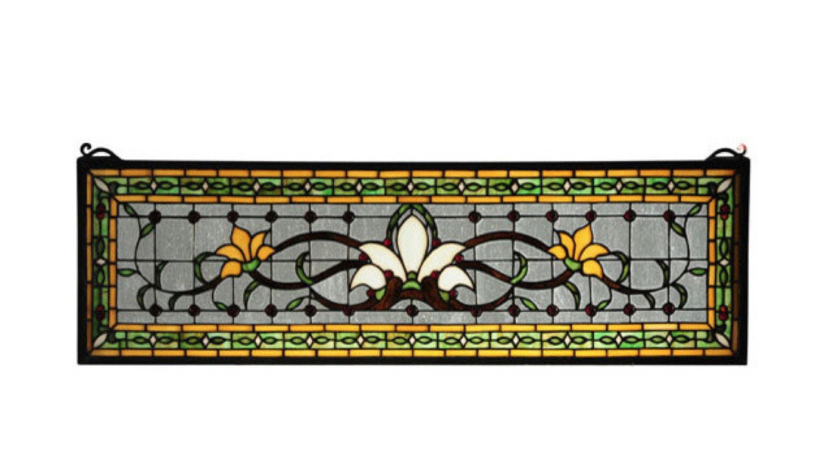 houzz transom stained glass window vintage home features