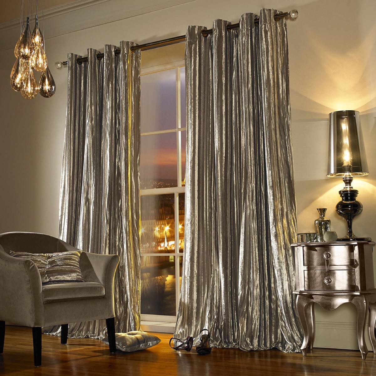 iliana eyelet curtains praline, kylie minogue, celebrity homeware