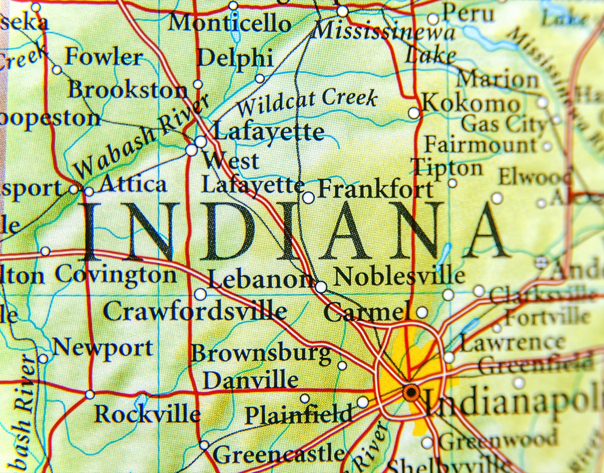 indiana geographical map state natural wonders