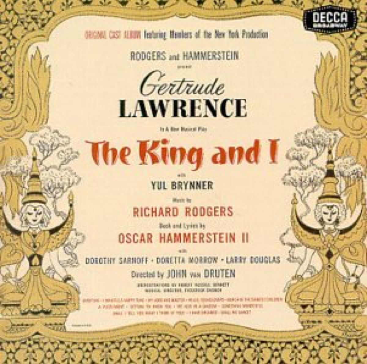 king and i broadway recording
