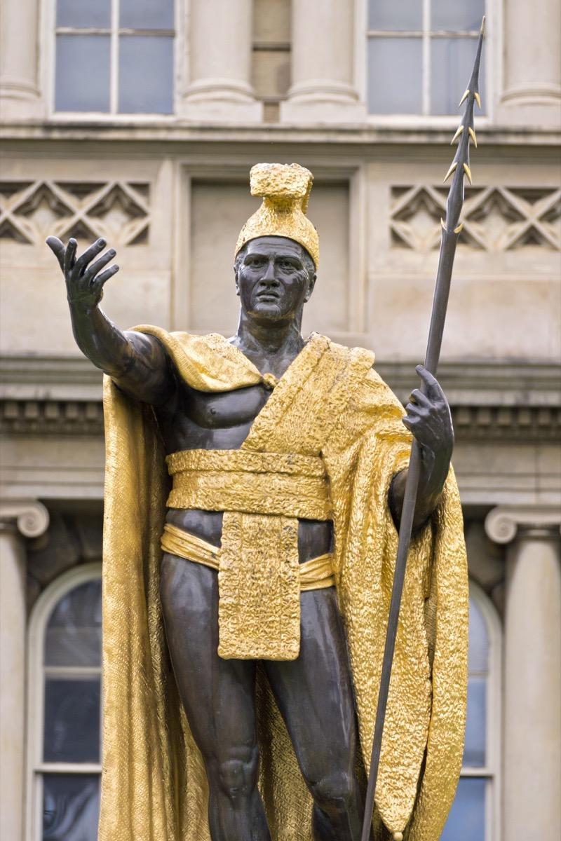 king kamehameha statue hawaii famous state statues