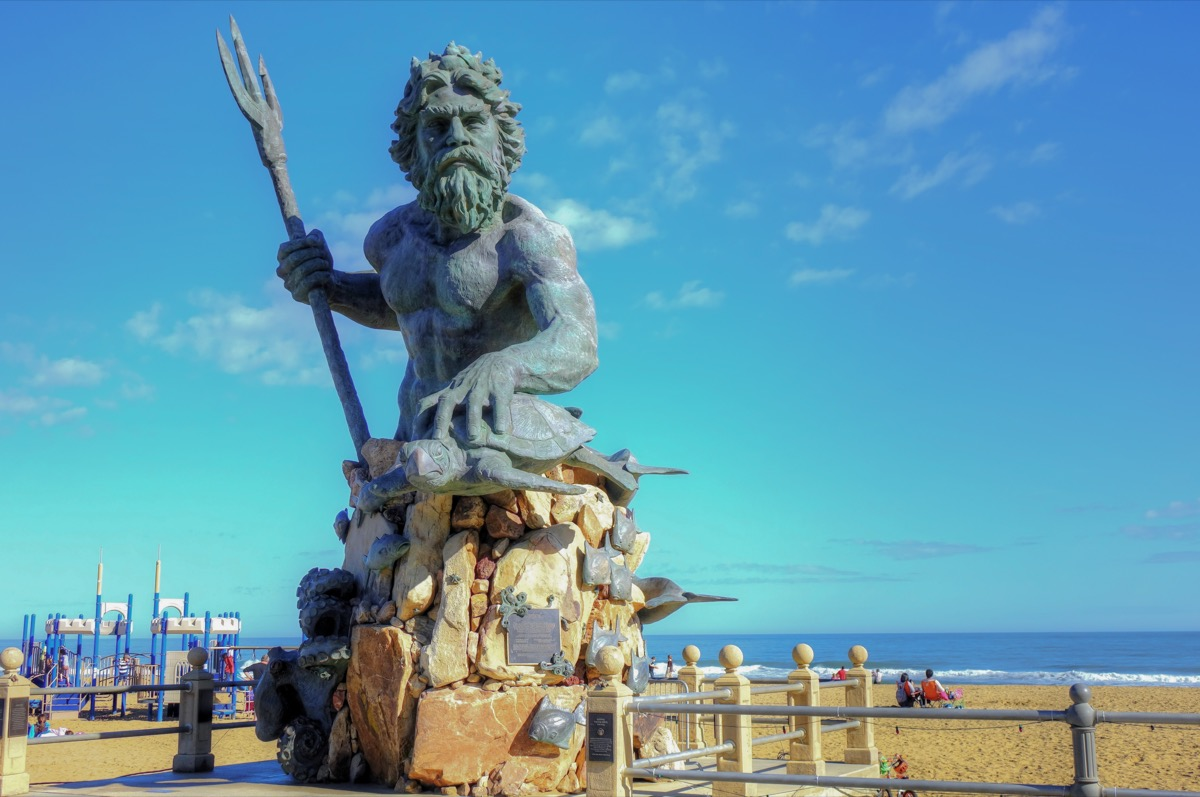 king neptune statue virginia beach virginia famous state statues