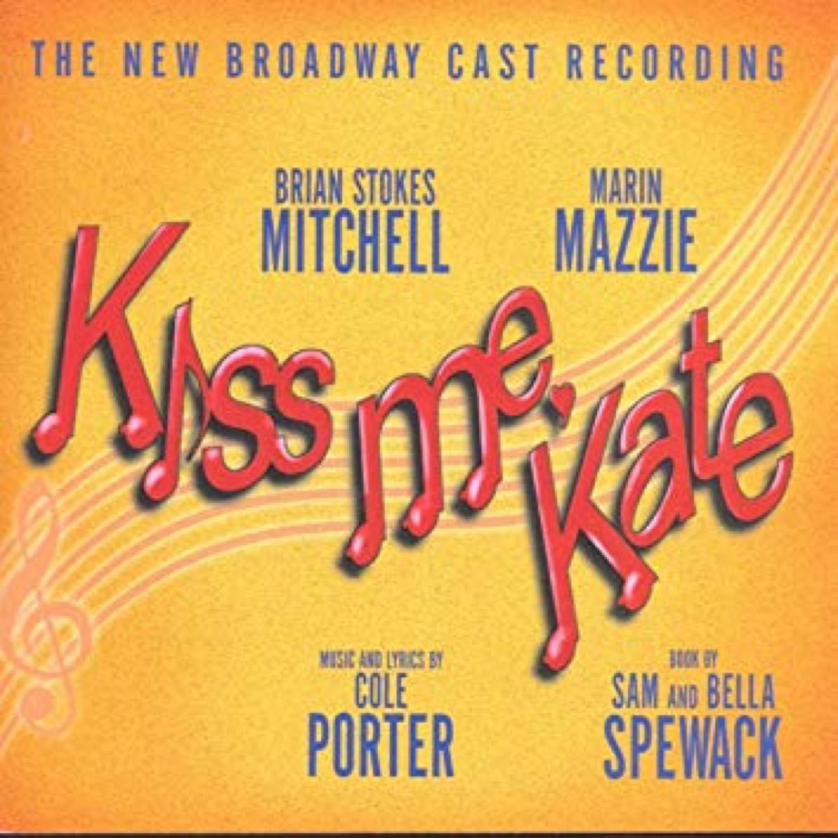 kiss me kate cast recording for broadwau