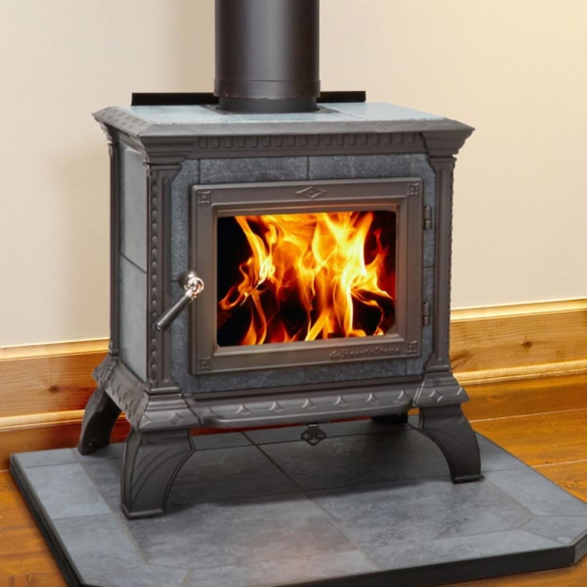 lehman's wood-burning stove vintage home fixtures