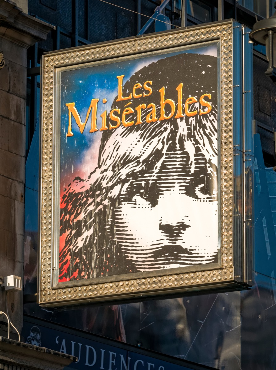 Les Misérables on broadway poster, broadway tickets