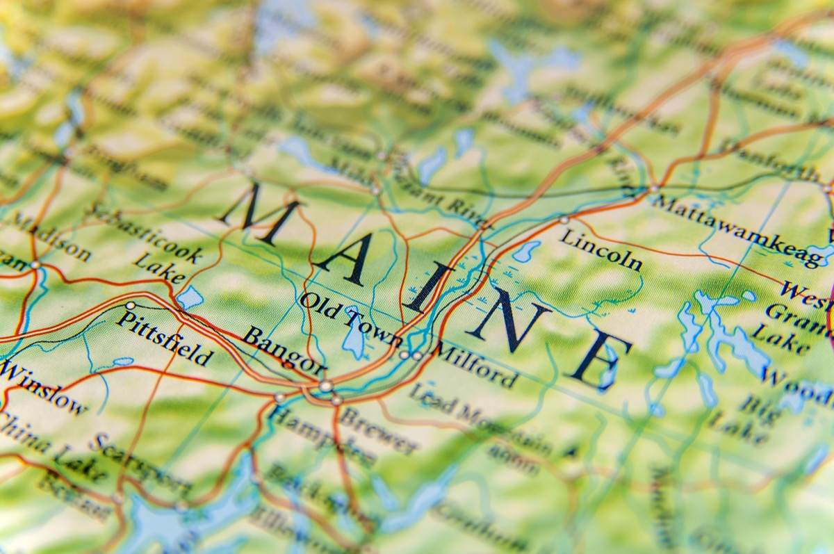 maine geographical map state natural wonders