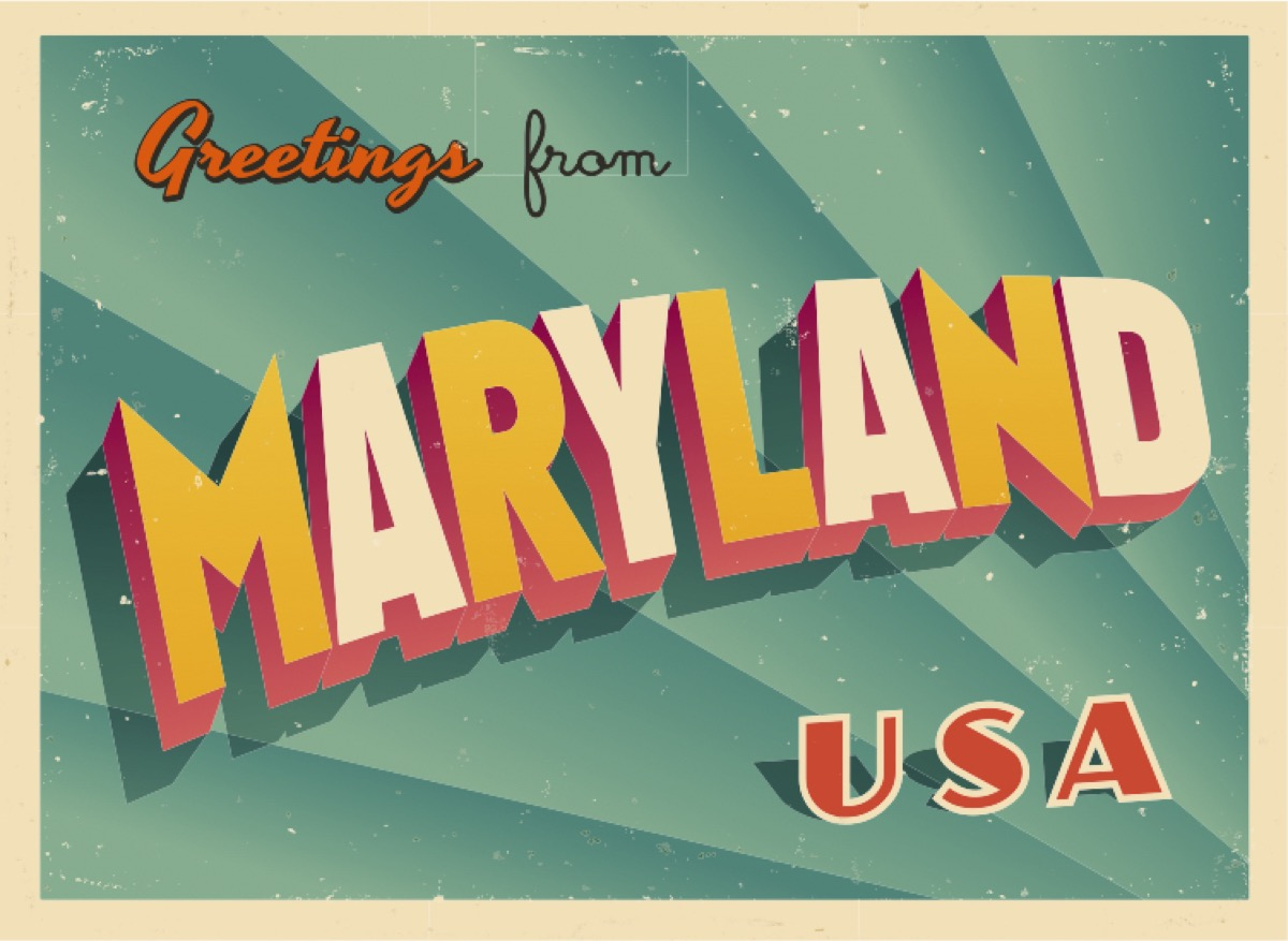 maryland postcard famous state statues